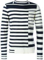 Maison Margiela asymmetric stripe sweater - men - Wool - S