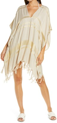 L-Space Seaport Metallic Thread Cover-Up Tunic
