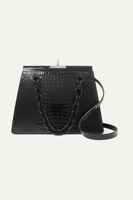 Gu De Gu_de - Croc-effect Leather Shoulder Bag - Black