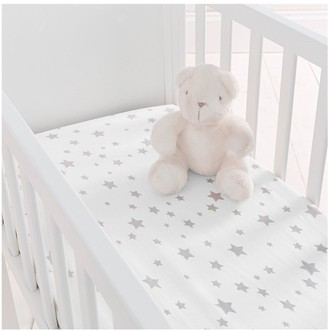 Silentnight Pack of 2 Jersey Printed Stars Fitted Crib Sheets