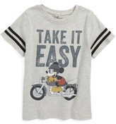 Mighty Fine Boy's X Disney Mickey Mouse Motorcycle T-Shirt