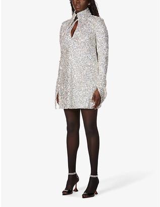 16Arlington Sangana loose-fit sequin-embellished mini dress