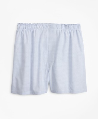 Brooks Brothers Traditional Fit Grid Check Boxers