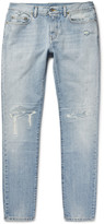 Saint Laurent - Skinny-fit 16cm Distressed Washed-denim Jeans