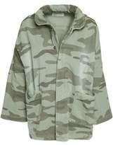 Current/Elliott Camoflague-Print Cotton Denim Jacket