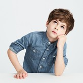 J.Crew Kids' washed denim shirt