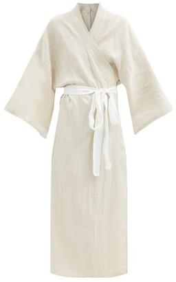Deiji Studios 02 Belted Linen Robe - Beige