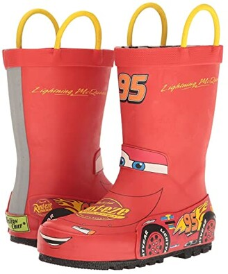 Western Chief Lightning McQueen Rain Boots (Toddler/Little Kid/Big Kid) (Red) Boys Shoes