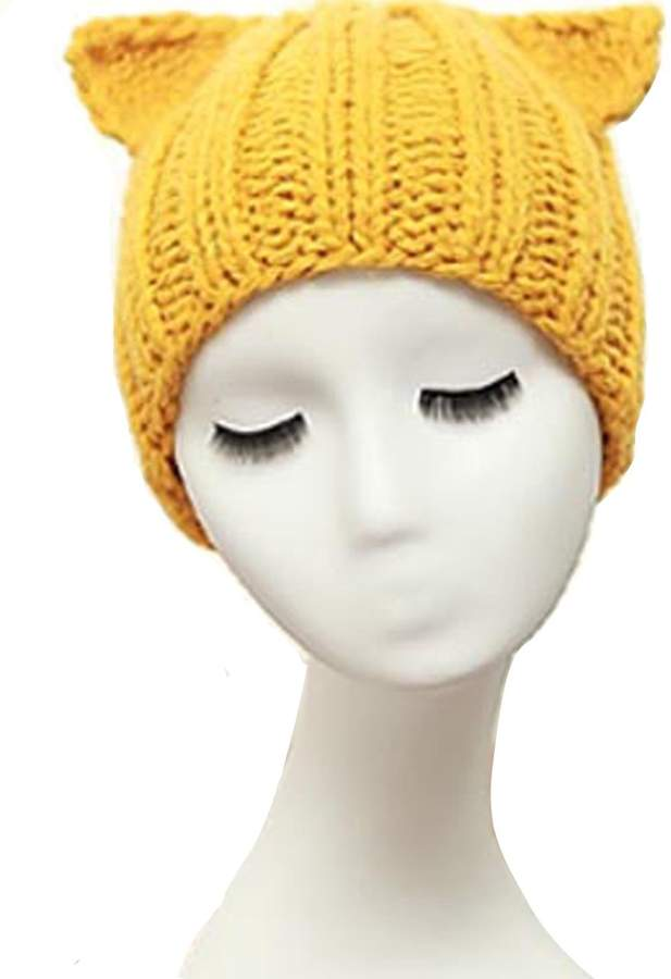 2f31950e4c3f3a Yellow Knitted Hat - ShopStyle Canada