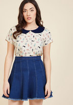 ModCloth Collar Outside the Lines Top in 1X