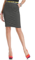 Thumbnail for your product : Urban Hearts Juniors Skirt, Striped High-Waist Pencil