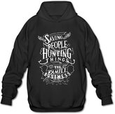 Sune Men's Supernatural American Saving People Hunter Thing Tv Hooded Sweashirt