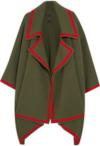 Burberry Wool And Cashmere-blend Cape - Army green