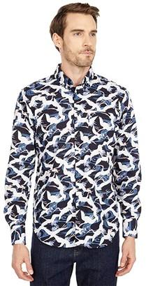 Naked & Famous Denim Easy Shirt in Slub Cranes (Blue) Men's Clothing
