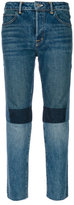 Helmut Lang patchwork high rise jeans