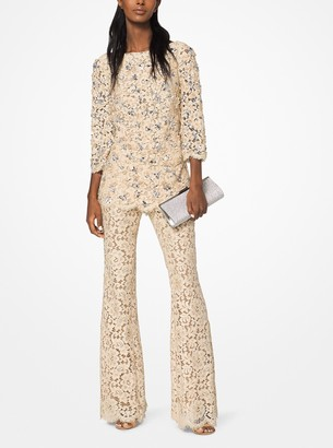 Michael Kors Collection Embroidered Floral Guipure Tunic