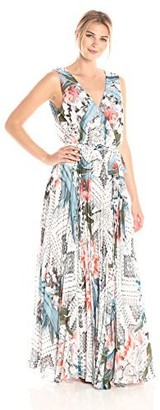 Sangria Women's Printed Maxi Dress