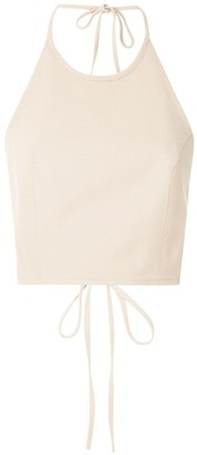 Framed Petit Bubbles cropped top
