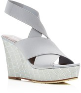 Donald J Pliner Carlin Crisscross Platform Wedge Sandals