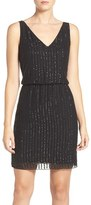 Adrianna Papell Women's Embellished Mesh Blouson Dress