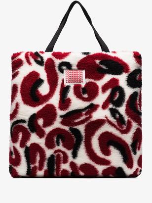 Charles Jeffrey Loverboy x Browns 50 patterned faux-fur tote bag