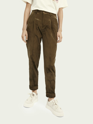 Scotch & Soda High-rise cotton-blend corduroy trousers | Women