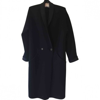 Theory Black Wool Coat for Women