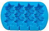 Wilton 4-Cavity Stacked Stars Silicone Mold, Blue, Pack of 2 (2105-0546)