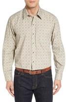 Cutter & Buck 'Winston' Regular Fit Print Cotton Poplin Sport Shirt