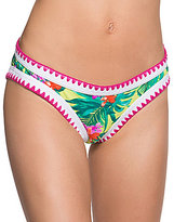 Betsey Johnson Tropical Escape Blanket Stitch Hipster Bottom