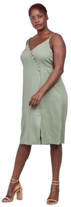 M&Co Izabel Curve button front cami dress