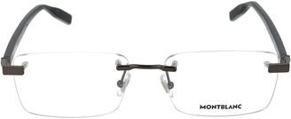 Montblanc Rimless Rectangle Glasses