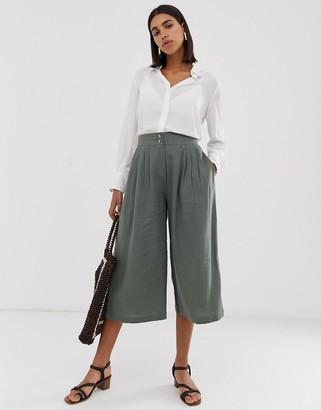 Vero Moda linen cropped culotte