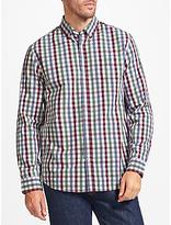 John Lewis Gingham Poplin Regular Fit Shirt, Blue/purple