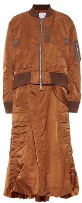 Sacai Nylon twill bomber coat