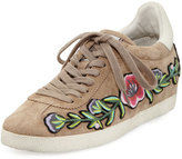Ash Gull Embroidered Suede Low-Top Sneaker, Coco