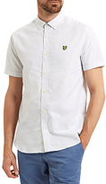 Lyle & Scott Cotton Running Stitch Short Sleeve Shirt, White