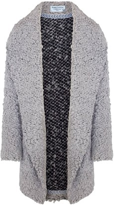 Haris Cotton Wool Blend Oversized Cardigan Grey