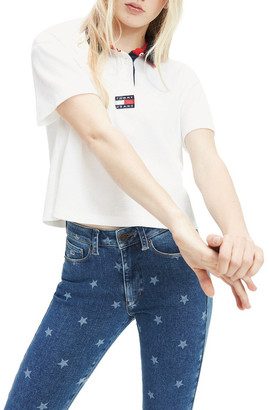 Tommy Jeans Cropped Fit Badge Polo