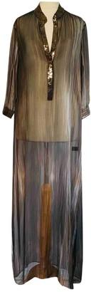 MARIE FRANCE VAN DAMME Black Silk Dresses