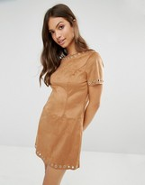Glamorous Faux Suede Shift Dress