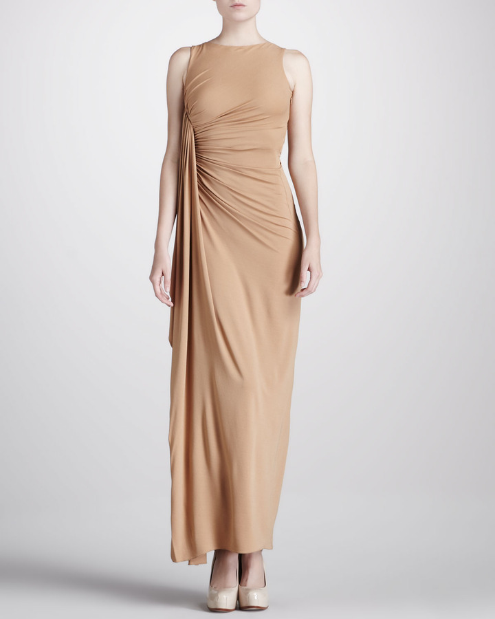 Michael Kors Gathered Jersey Gown