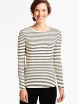 Talbots Sparkle Forest Stripe Tee