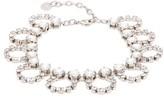 Miu Miu Crystal-embellished Looped-chain Anklet - Womens - Crystal