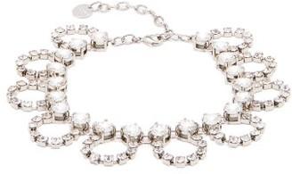 Miu Miu Crystal-embellished Looped-chain Anklet - Crystal