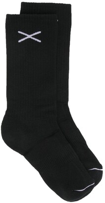 Barrie Ribbed-Knit Cashmere Socks