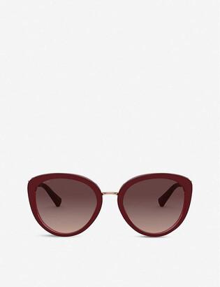 Bvlgari BV8226B metal and acetate cat-eye sunglasses