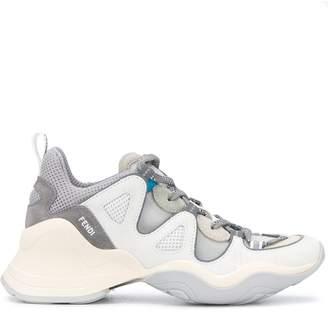 Fendi Suede-Mesh Sneakers