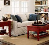 PB Square Slipcovered Sleeper Sofa
