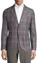 Eleventy Tailored-Fit Handmade Linen, Wool & Silk Sportcoat